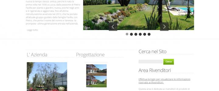 Sito WEB Favilla Pietro Vivai